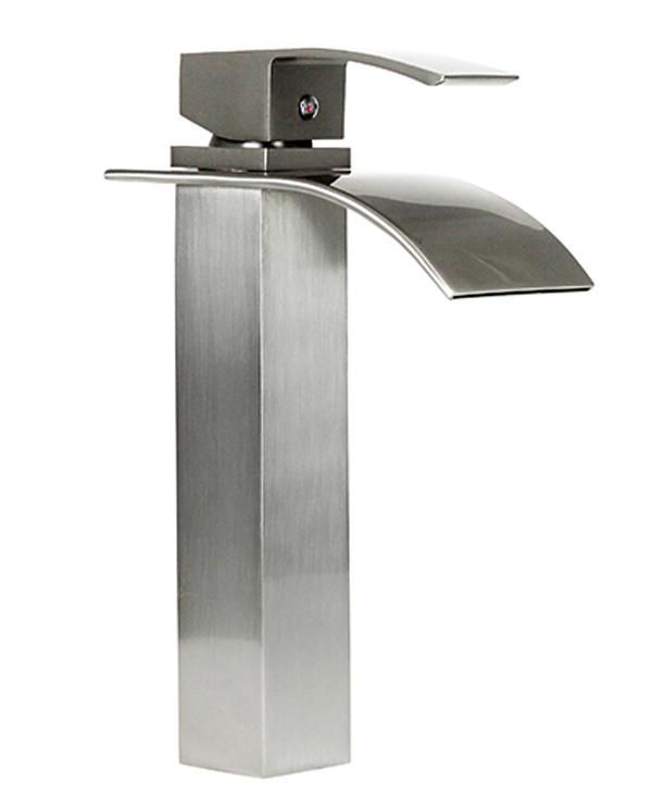 "Dyconn Lune & Wye 10-1/2"" Bathroom Vessel Faucet, Solid Brass, Dual Control Operation"