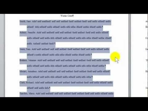 mla format word