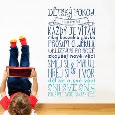 Pravidla dětského pokojíčku - modrá