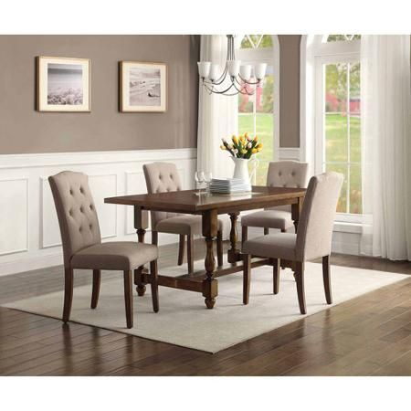 $499 Better Homes and Gardens Providence 5-Piece Dining Set, Brown