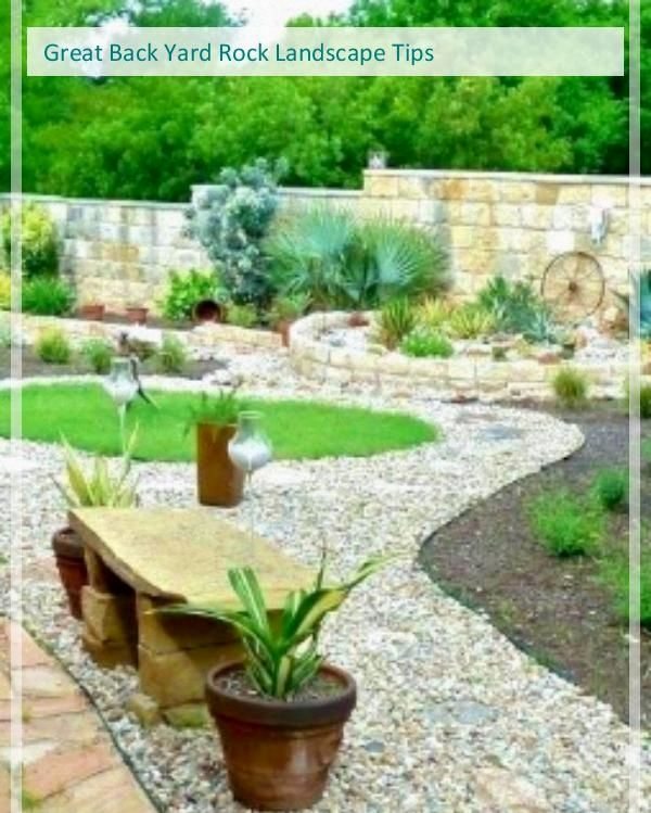 Great Backyard Rock Landscaping Tips Landscaping With Rocks