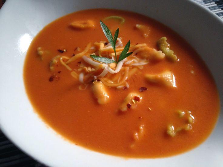 À porc egal: Soupe crémeuse de tortellinis au fromage