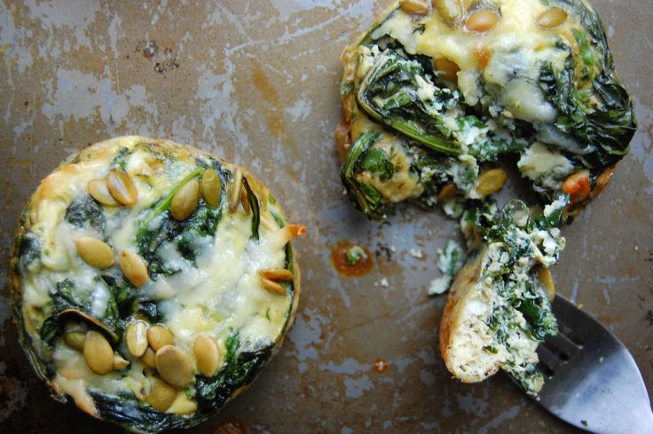 Ramekin Frittatas with Kale, Mint & Pecorino | Recipe