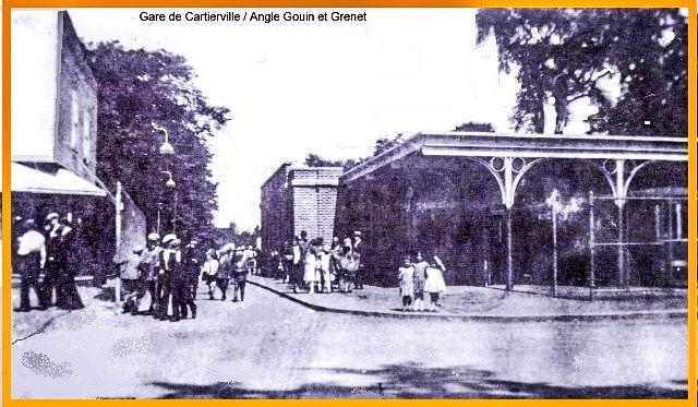 CARTIERVILLE, Québec - La Gare d'une ligne de tramway sera établie jusqu'à Cartierville où les citadins se rendaient pour se divertir dans un site bucolique qui marqua plusieurs générations le parc Belmont.