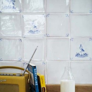 White - Early English Delft - Wall & Floor Tiles  | Fired Earth