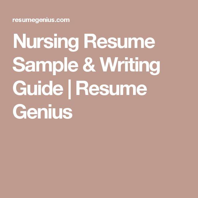 Nursing Resume Sample & Writing Guide | Resume Genius