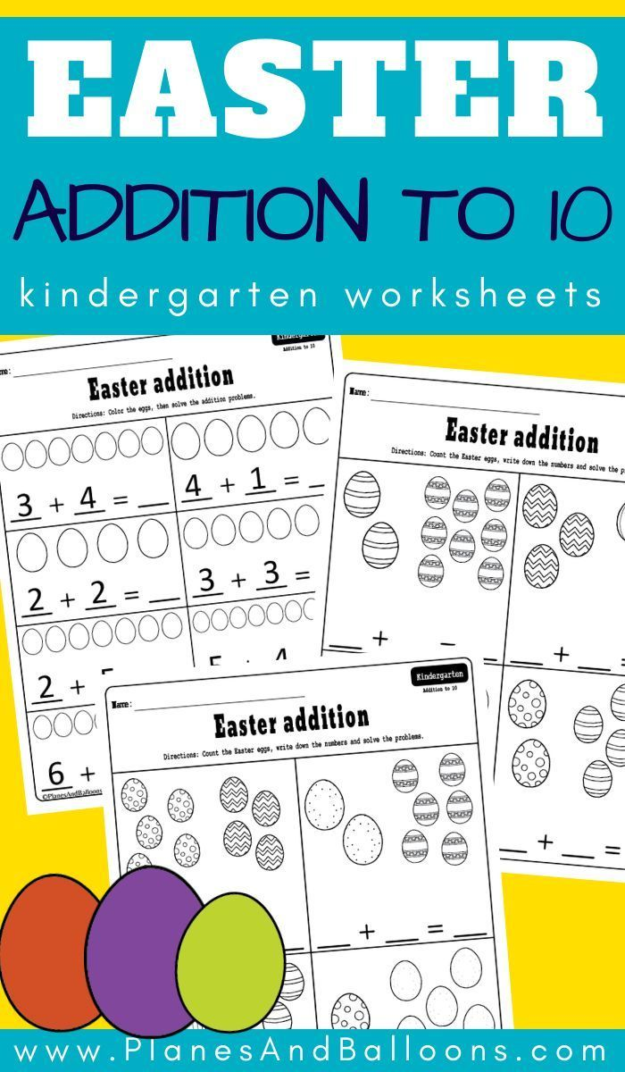 Easter Addition To 10 Worksheets Math Centers Kindergarten Kindergarten Worksheets Kindergarten Worksheets Free Printables [ 1200 x 700 Pixel ]