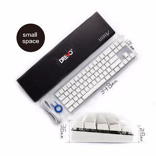 Drevo Calibur 71-Key RGB LED Backlit Wireless Bluetooth 4.0 Mechanical Keyboard Blue Switch Sliver White (32681362045)  SEE MORE  #SuperDeals