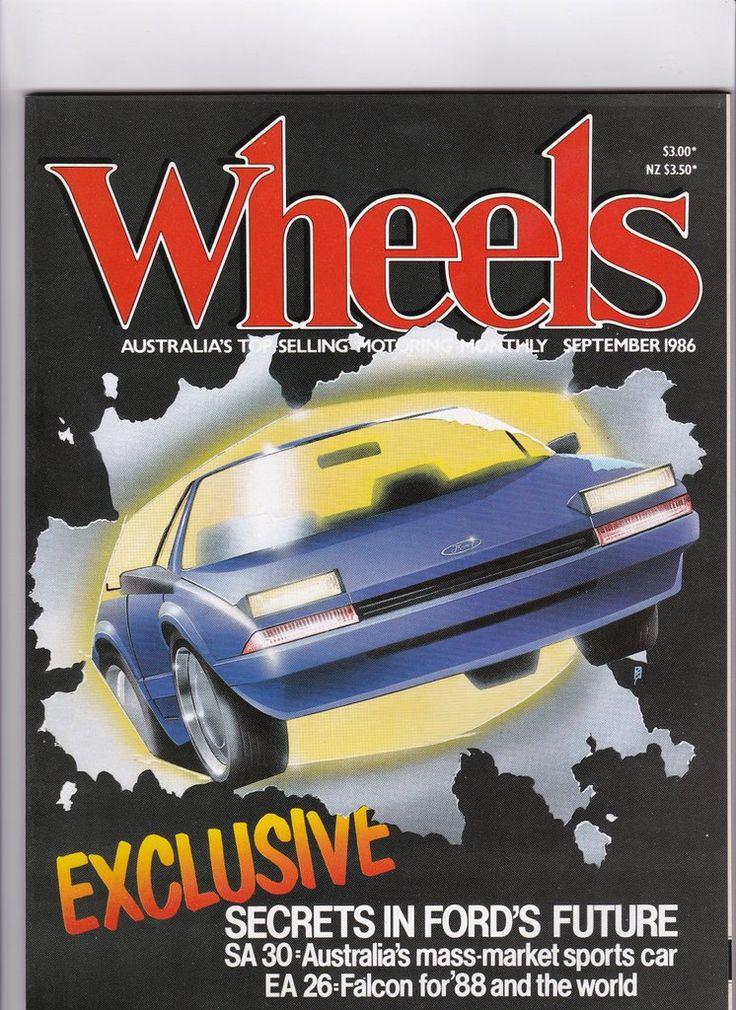 Vintage Car Magazine September 1986 Wheels Magazine Men's Gift 1980s Vintage Car Magazine Man Gift Idea 30th Birthday by SuesUpcyclednVintage on Etsy