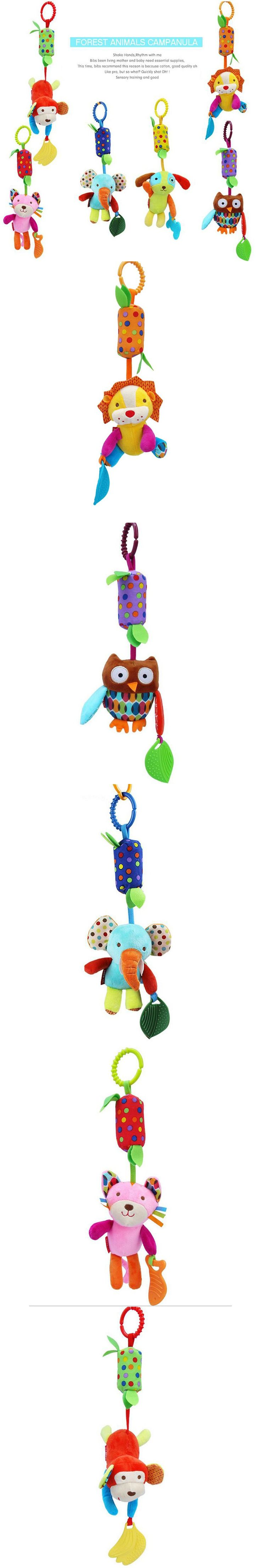 Christmas Gift Hot Sale New Infant Toys Mobile Baby Plush Toy Bed Wind Chimes Rattles Bell Toy Stroller for Newborn baby toys $4.89
