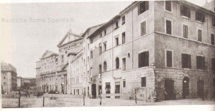 Roma Sparita - Piazza della Chiesa Nuova Demolition for the opening of Corso Vittorio