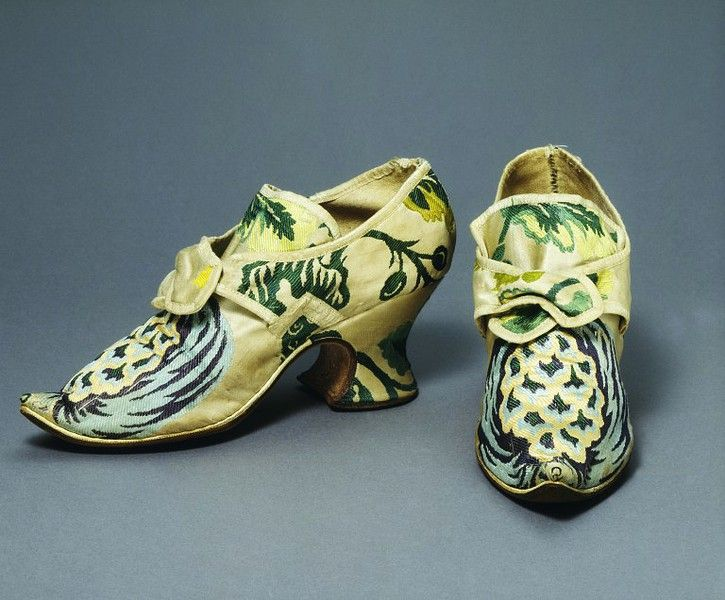 C. 1735 silk shoes. From the collections of the Victoria & Albert Museum