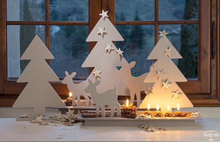 Natale TonoSUTono | Alberi e cerbiatti in legno