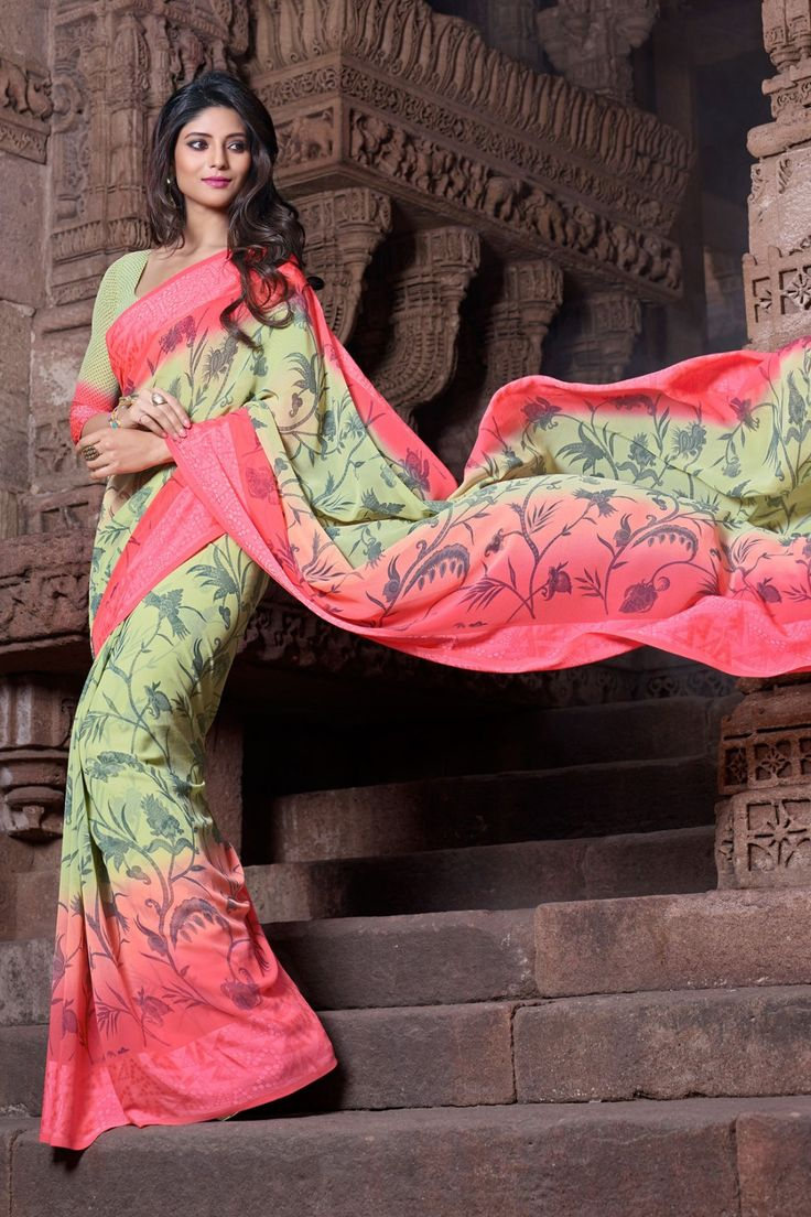 Green and Pink Faux Georgette Saree Checkout our #latest #sarees @ http://zohraa.com/sarees.html #zohraa #onlineshop #womensfashion #womenswear #look #diva #party #shopping #collection #online #beautiful #love #beauty #glam #bollywood #shoppingonline  #styles #stylish #model #fashionista #pretty #women #luxury #celebrity  #lifestyle #best #fashion