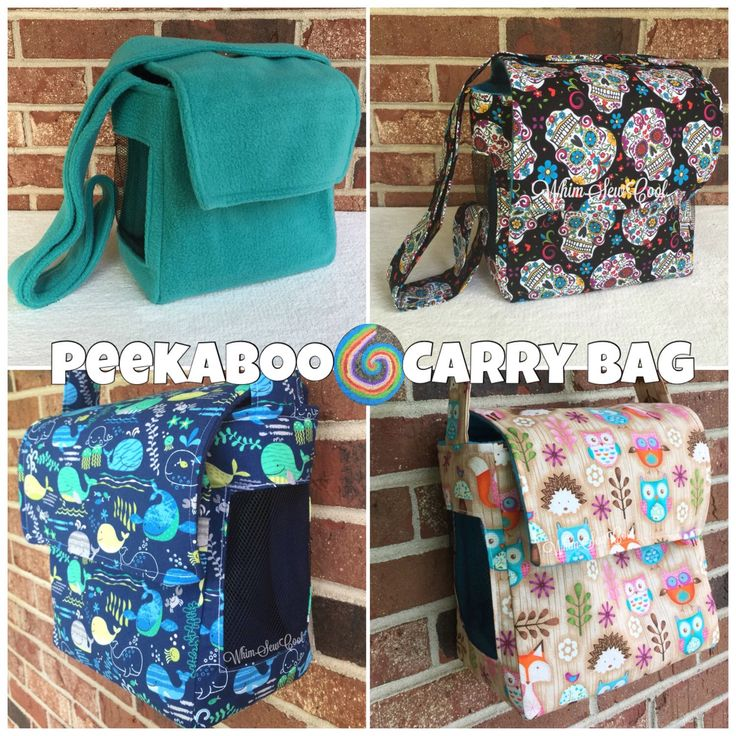 CUSTOM Peekaboo Carry Bag | WhimSewCool on Etsy https://www.etsy.com/listing/226371488/custom-peekaboo-carry-bag-you-pick-your