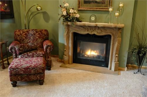 1000 images about furnishings on pinterest arm chairs for French country stone fireplace