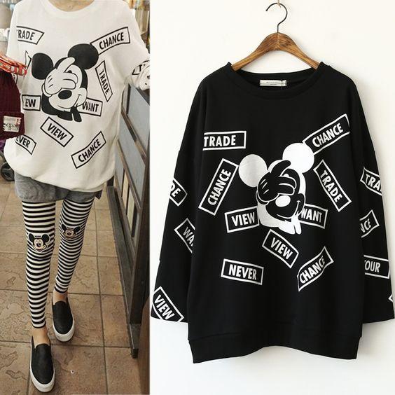 Pas cher Kawaii Mickey Sweat Pour Femmes/Femmes de Sweatershirt/Mickey Sweat Shirts Femmes/Mickey Femmes Sweatshirts, Acheter de qualité directement des fournisseurs de Chine: