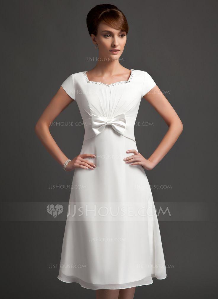 Forme princesse bustier en coeur longueur genou mousseline for Robes de demoiselle d automne mariage