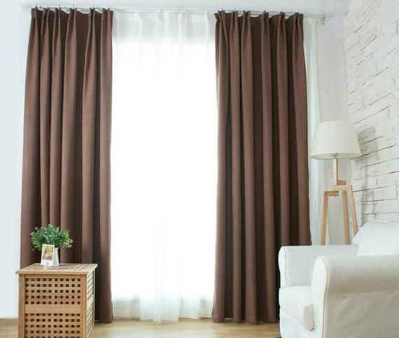 Brown Curtains Window Curtain Panels Linen Curtains Custom Etsy Brown Curtains Curtains Brown Curtains Bedroom