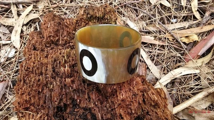 Handmade Exotic genuine buffalo horn women fashion bangle cuff bracelet