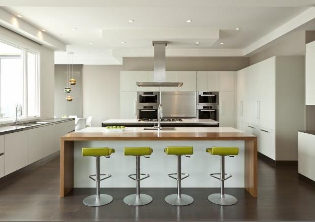 1000 ideas about open plan kitchen inspiration on for Sleek modern kitchen ideas