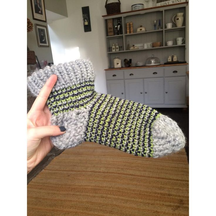 Loomed sock by @joannecgriffiths