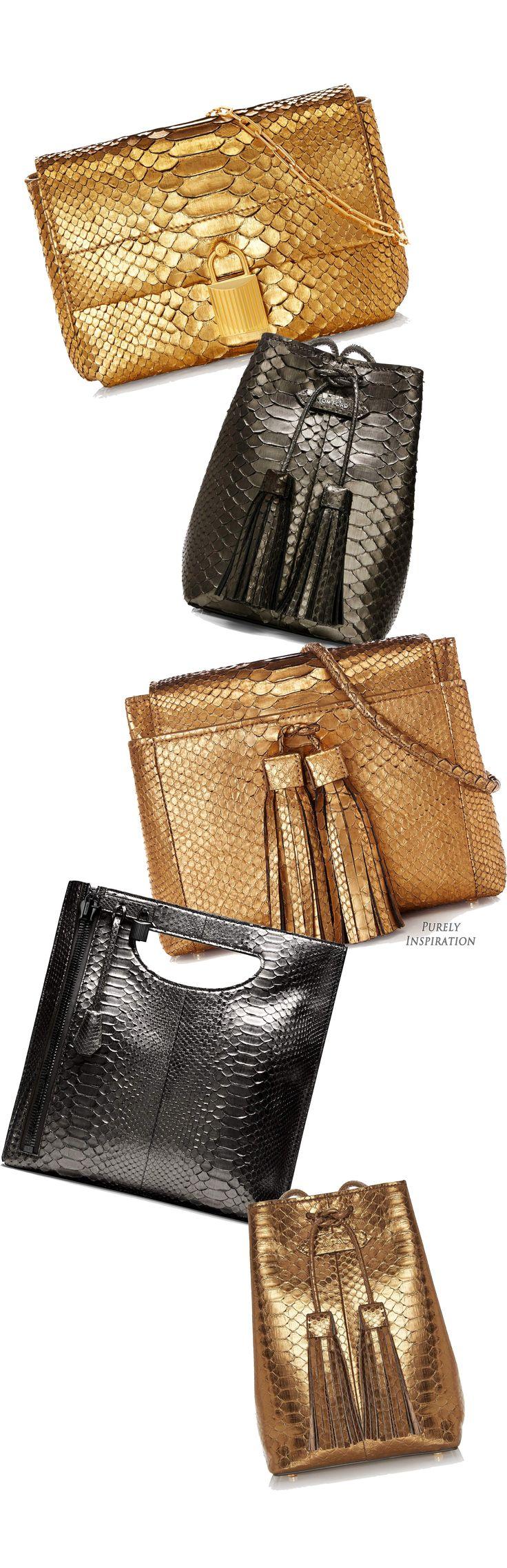 Tom Ford FW2015 metallic leather handbags | Purely Inspiration
