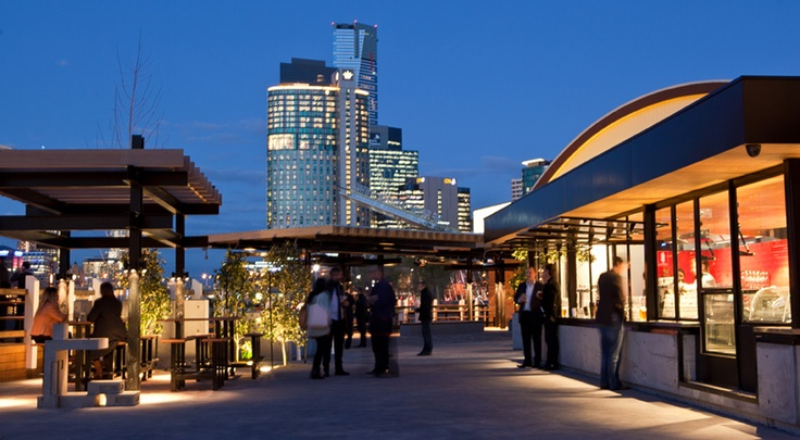 The Boatbuilders Yard - Melbourne - South Wharf - exterior bar - cityscape