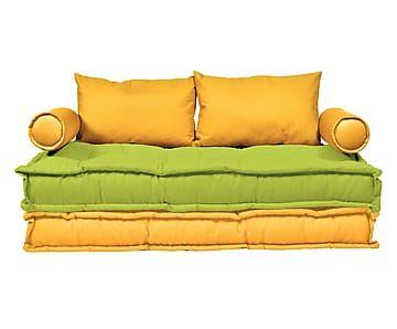 17 migliori idee su divano giallo su pinterest - Divano verde acido ...
