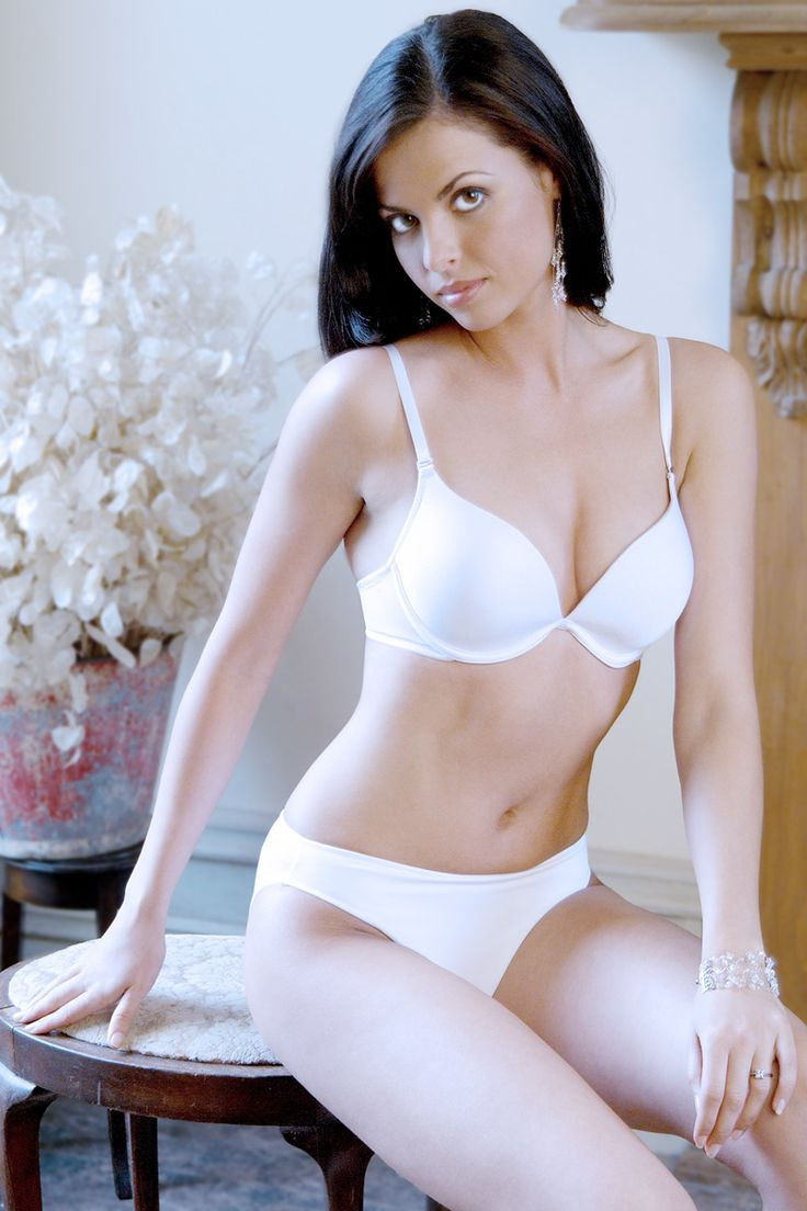 Push-up bra and panties by Intimates available in white only
