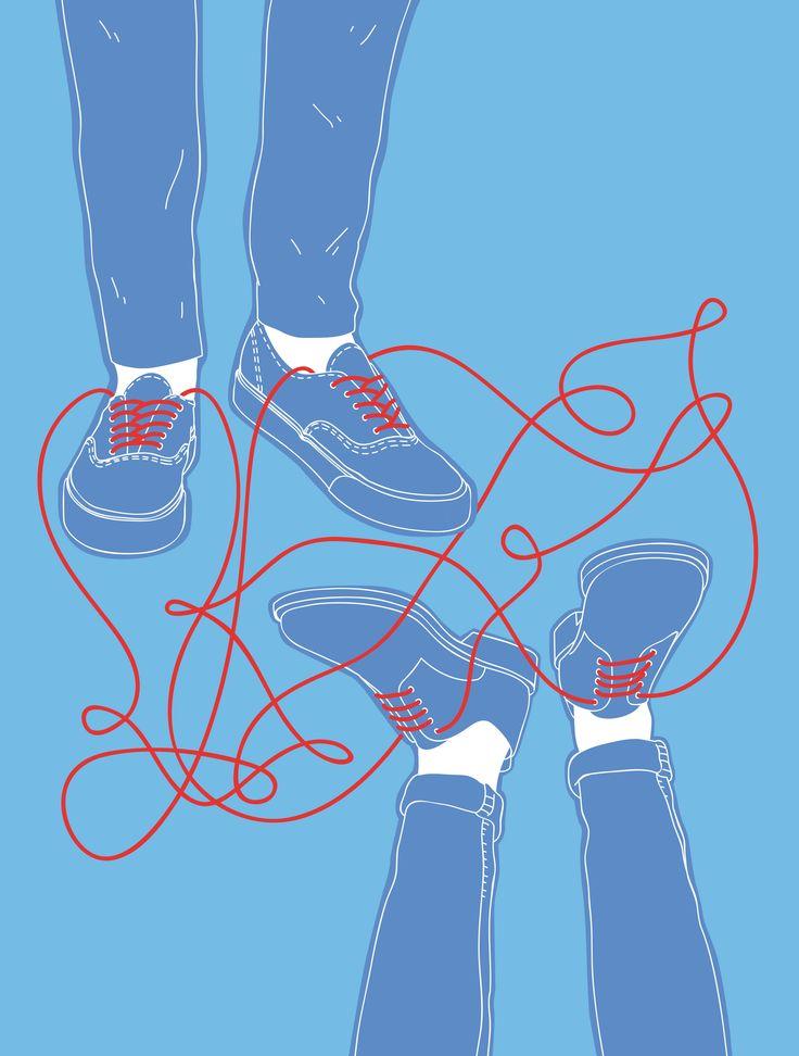 Friendship - All content copyright 2016, Federico Gastaldi. All rights reserved. illustration, friends, friend, conceptual, graphic, design, blue, red, Federico Gastaldi, Salzmanart.com