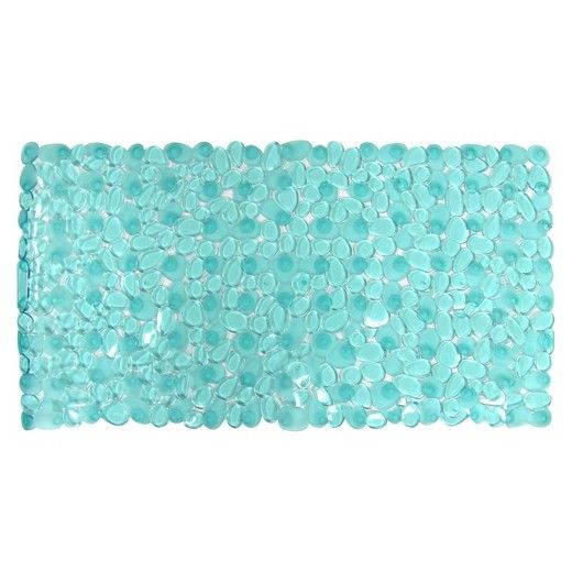 Prevent bathtub slips and falls with the Room Essentials Pebble Bath Mat. With suction cups to hold it in place, this beautiful bath mat has a blue pebble design, making your time in the shower feel like a dip in a mountain stream. A great solution for that slippery shower, this bathtub mat is charming and versatile.