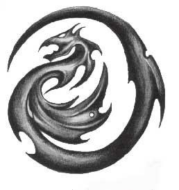 Free tribal dragon tattoo designs in several galleries. Picture 10.