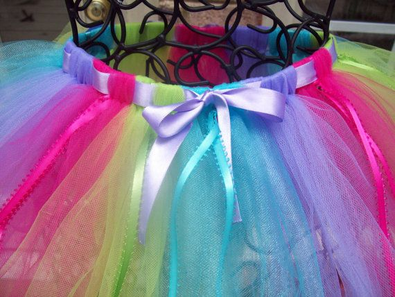 RAINBOW TUTU by Whimsicalmonica on Etsy, $14.99