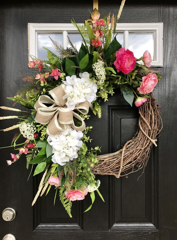 best 25 spring wreaths ideas on pinterest spring decorations door wreaths and wreaths for. Black Bedroom Furniture Sets. Home Design Ideas