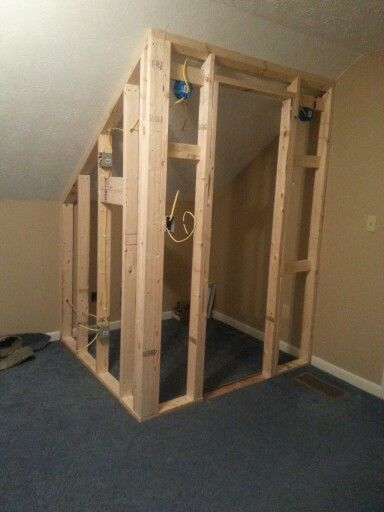 Build closet with angled ceiling (see all photos for this project)