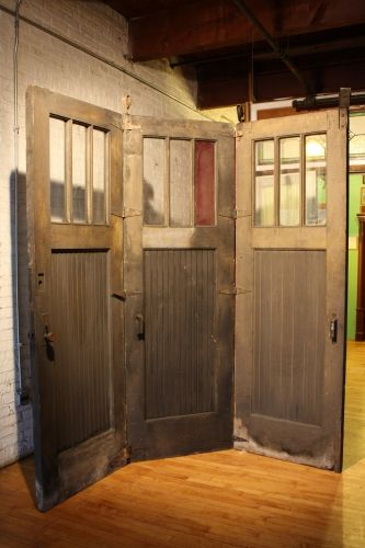 Antique folding carriage house doors salvageonecom to for Carriage style garage doors for sale