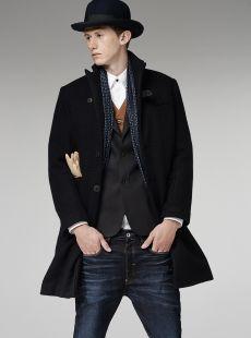 midnight tuxedo coat / g-star raw