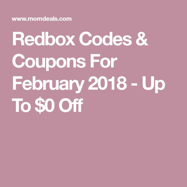 Redbox Codes & Coupons For February 2018 - Up To $0 Off