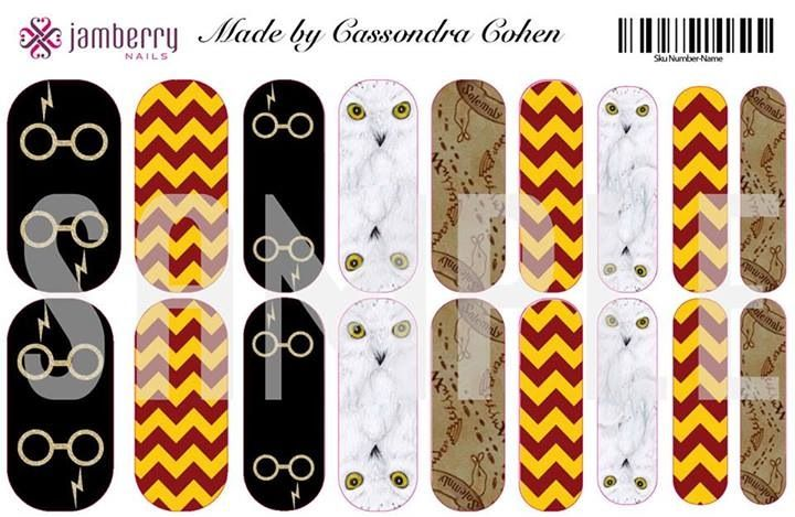 Harry Potter inspired nail wraps.  Design your own in the Jamberry Nail Art Studiohttp://fanicures.jamberrynails.net