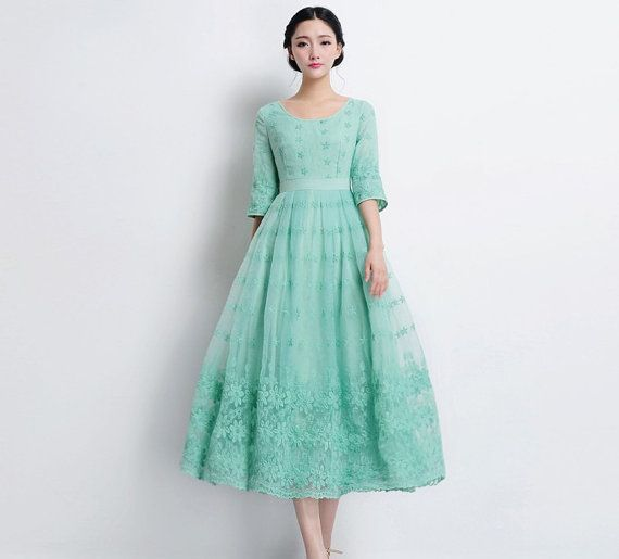 A Line Full Skirt Dress