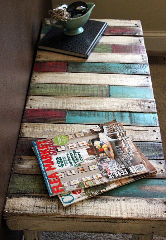 Shabby Chic Design: 10 idées pour créer une table basse en bois