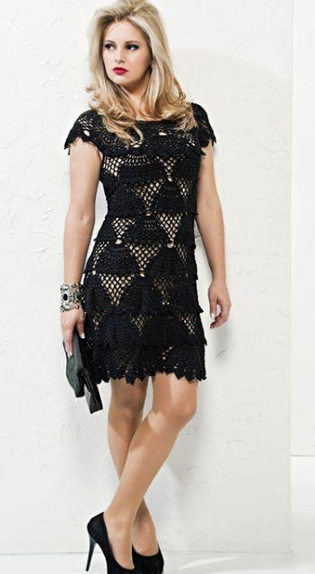 Ivelise ручной: красивое платье в Вязание крючком!