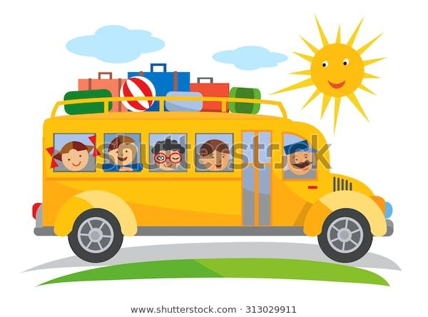 Find School Bus Field Trip Cartoon Cartoon Stock Images In Hd And