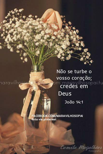 Não se turbe o vosso coração; credes em Deus, crede também em mim.João 14:1