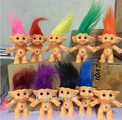 10 Pcs/set Vinyl Lucky Troll Doll -4in  Dam Troll Doll Toy Figure