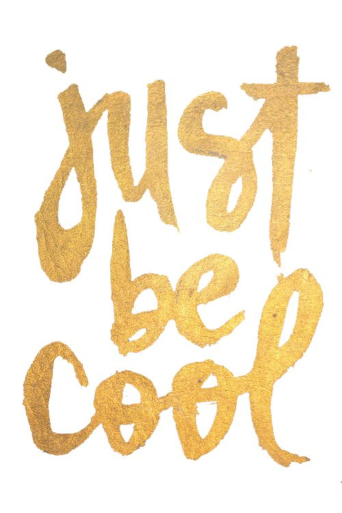 Just be cool! #Inspiration #Fashiolista