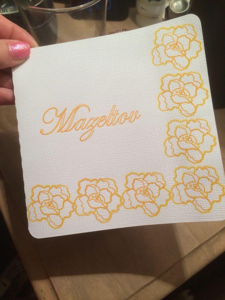 Sketch pen flower card