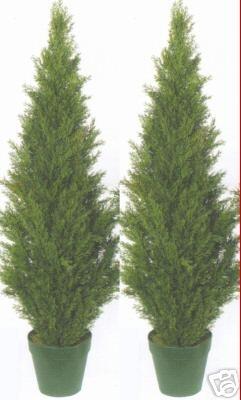 2 Topiary 48 Quot Outdoor Uv Plant Artificial Bush Cypress