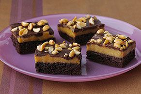 Elevate brownies (in both senses of the word) with layers of chewy and creamy. Chocolate plus peanut butter plus creamy frosting means a tall stack of yum.